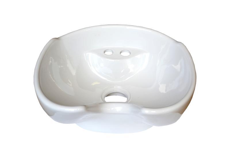 Detail - umyvadlo pro mycí box - keramické, bílé (DHS-013w) + DÁREK ZDARMA