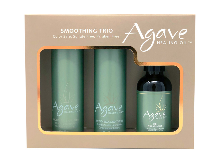 Sada vlasové péče Agave - šampon, kondicionér, olej (Z-AFGPHC-0008; Z-AFGPHC-0011) - Bio Ionic + DÁREK ZDARMA