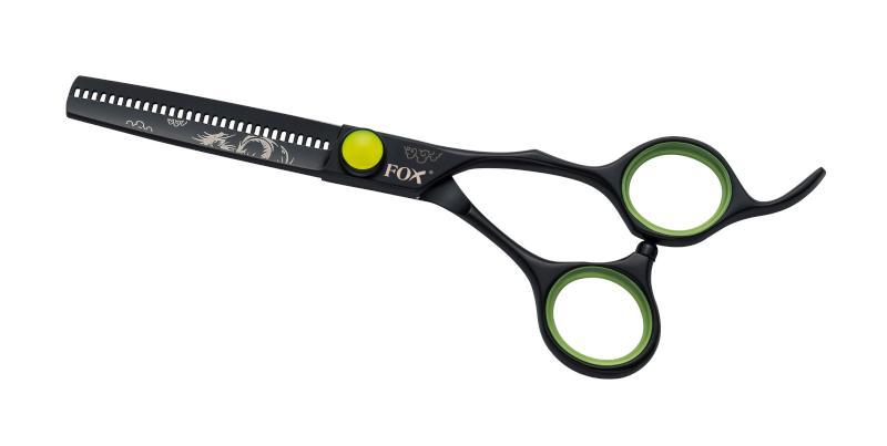"""Efilační nůžky Fox Fashion 5,5"""" Classic 30 zubů - černé (1509501) + DÁREK ZDARMA"""