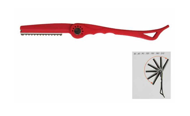 Efilační břitva na seřezávání vlasů - nastavitelná, červená (7919) - DUKO