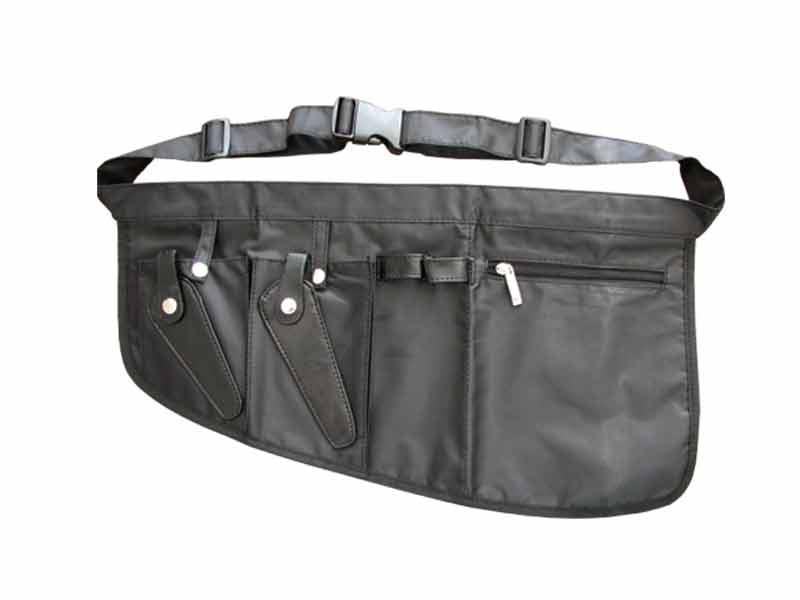 Kadeřnická kapsa na nůžky, hřebeny, klipsy - textilní, černá (9B610) - DUKO + DÁREK ZDARMA