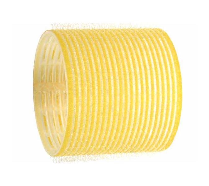 Natáčky na vlasy Velcro pr.64 mm, 6 ks - samodržící, žluté (15/Ja) - DUKO