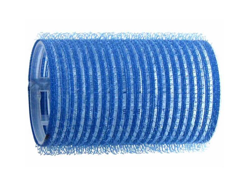 Natáčky na vlasy Velcro pr.38 mm, 6 ks - samodržící, modré (15/3) - DUKO