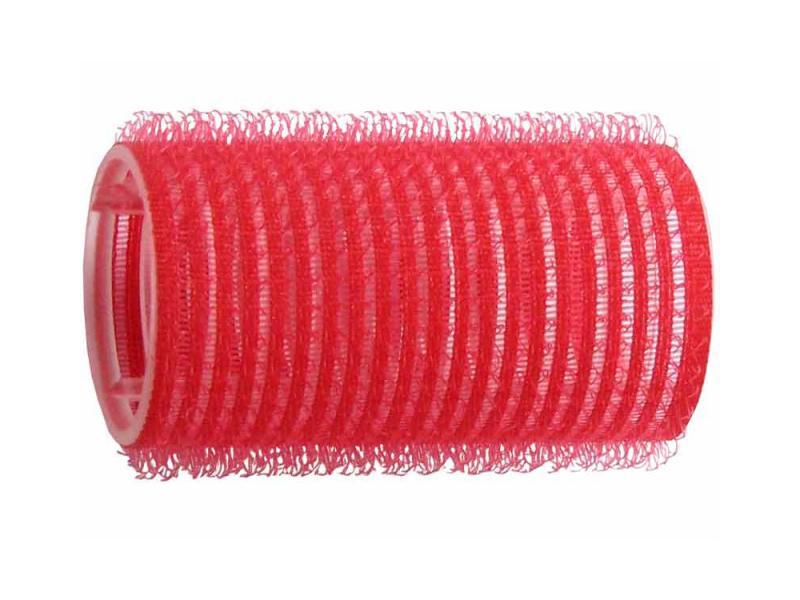 Natáčky na vlasy Velcro pr.33 mm, 6 ks - samodržící, červené (15/4) - DUKO