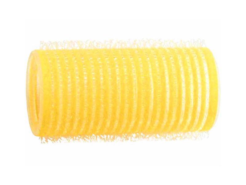 Natáčky na vlasy Velcro pr.28 mm, 6 ks - samodržící, žluté (15/5) - DUKO