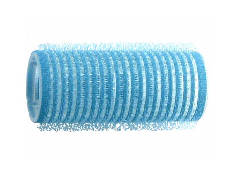 Natáčky na vlasy Velcro pr.25 mm, 6 ks - samodržící, modré (15/6) - DUKO
