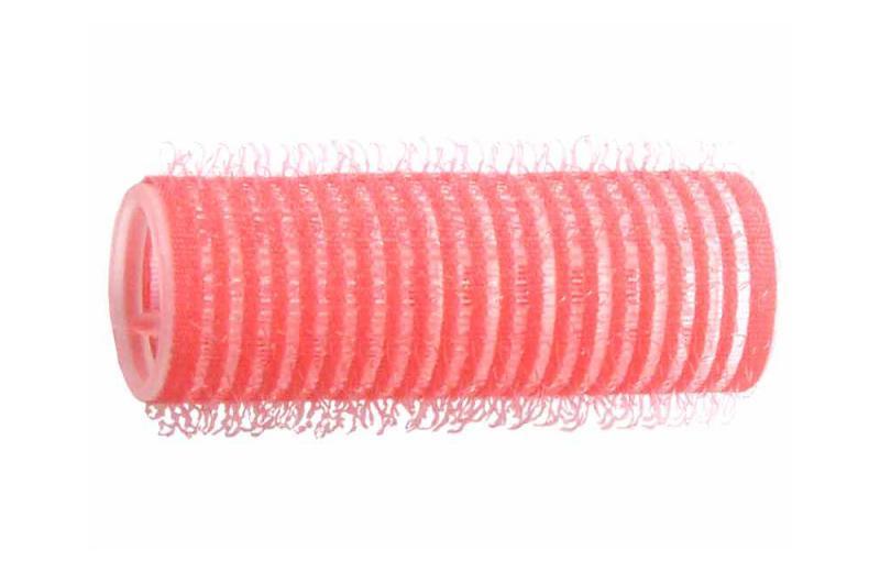 Natáčky na vlasy Velcro pr.21 mm, 6 ks - samodržící, růžové (15/7) - DUKO