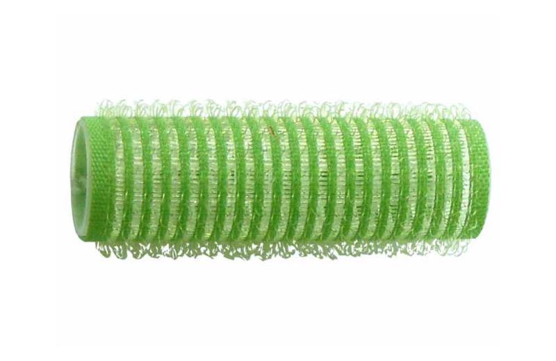 Natáčky na vlasy Velcro pr.18 mm, 6 ks - samodržící, zelené (15/8) - DUKO