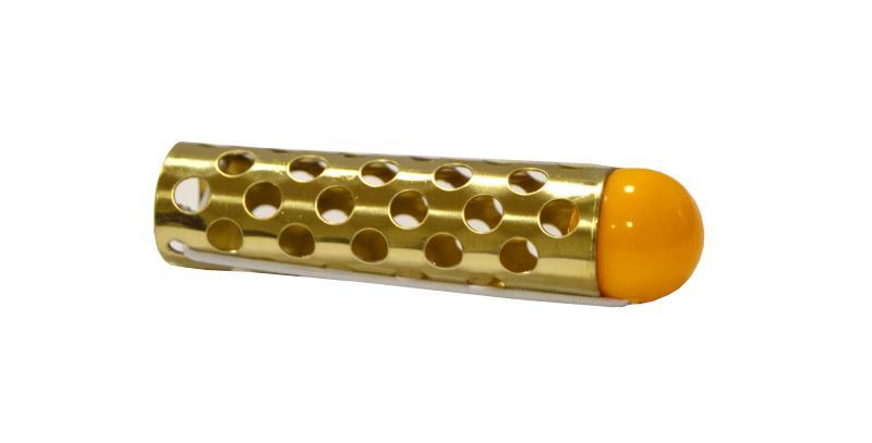 Kovové natáčky s kuličkou, zlaté - pr.18mm, 10 ks (5243SK) - DUKO