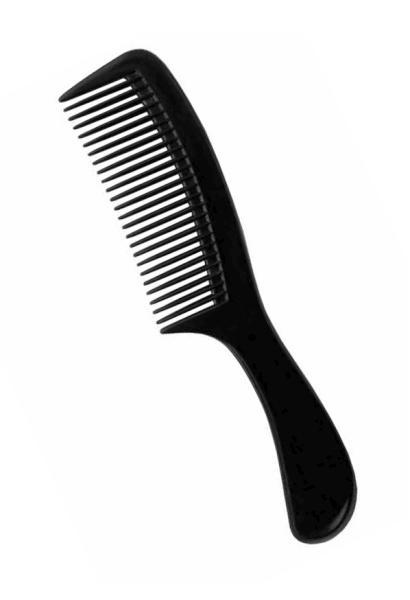 Hřeben na vlasy Duko Collection 8502 s rukojetí - černý (DE8502)