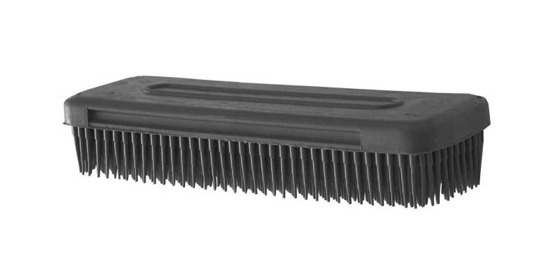 Kadeřnický gumový kartáč 50 x 28 x 148 mm - černý (1412) - DUKO