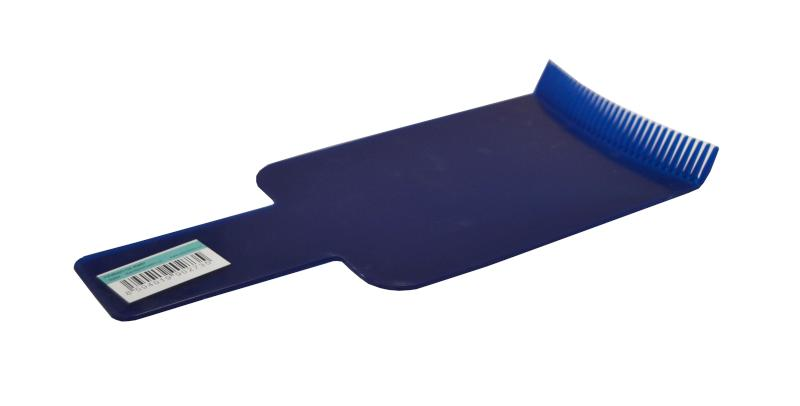 Kadeřnická lopatka/hřeben na melír 105 x 225 - modrá (6284-blue) - DUKO
