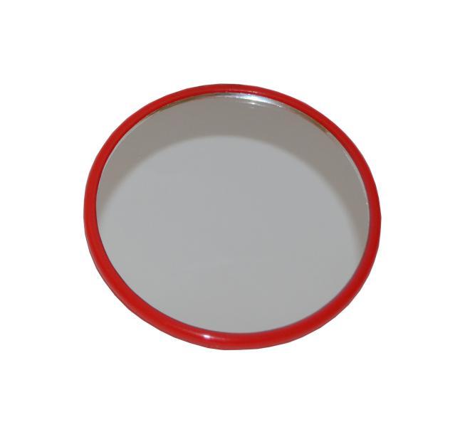 Kosmetické zrcátko Duko 3057 kulaté - červené, pr.75 mm