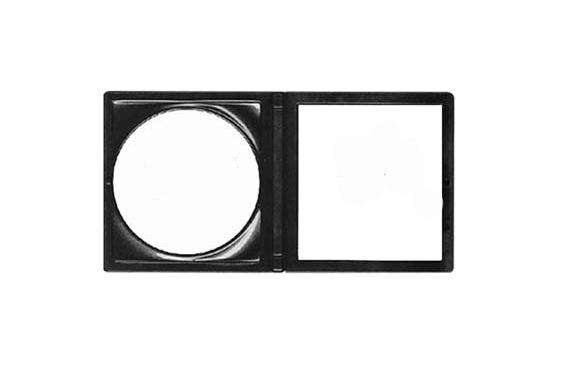 Kosmetické zrcátko Duko 3112 oboustranné - zvětšovací, 77 mm