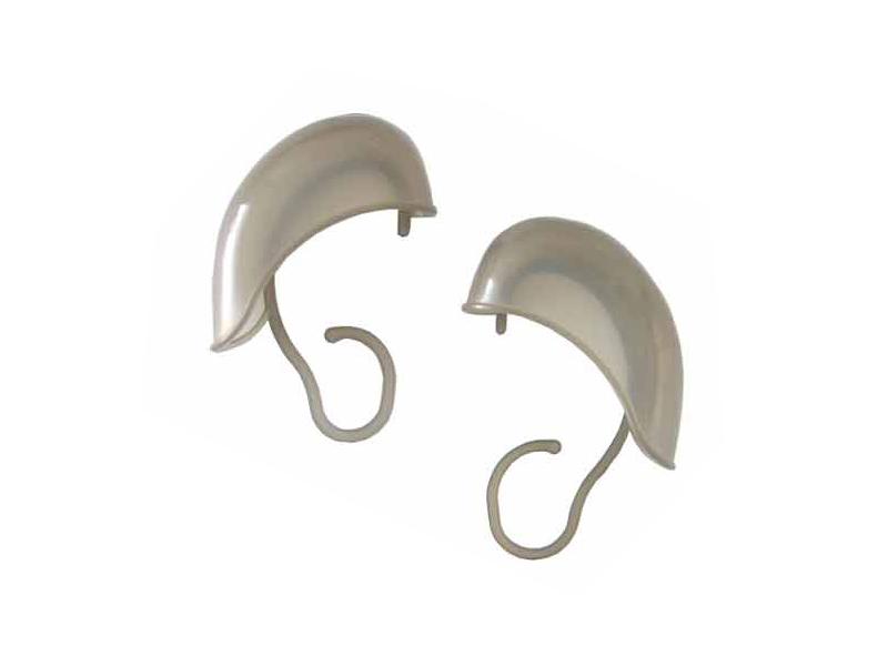 Kadeřnická ochranná krytka uší - plastová, šedá, 1 pár/2ks (1504) - DUKO