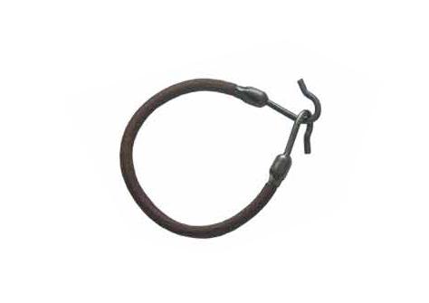 Gumička do vlasů s háčkem Duko 8013 - černá, 1 ks