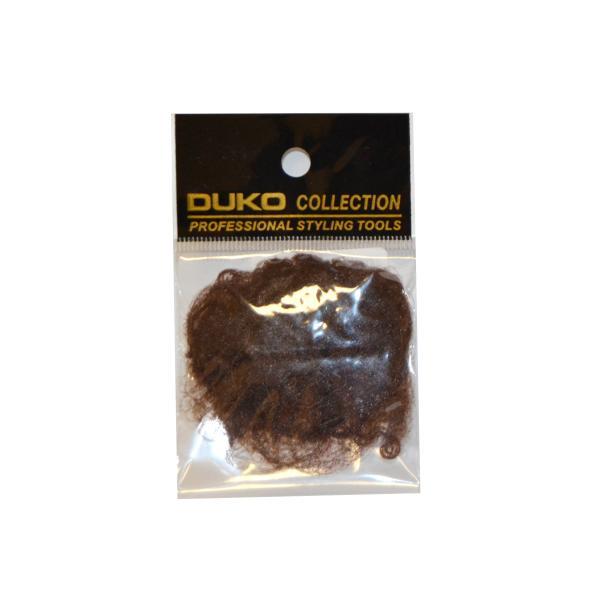 Síťka na vlasy s gumičkou Duko 4201 jemná - 3 ks, hnědá (4201-brown)