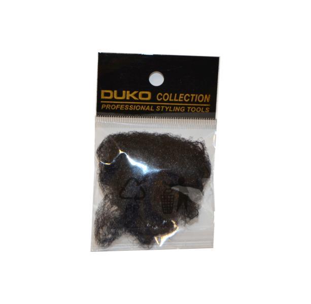 Síťka na vlasy s gumičkou Duko 4201 jemná - 3 ks, černá (4201-black)