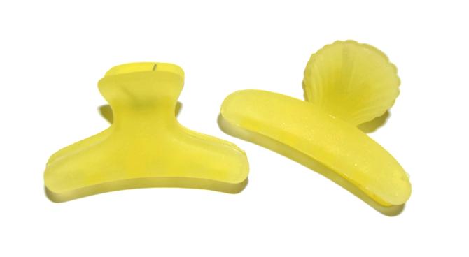 Plastový skřipec do vlasů Duko 1281 mini - žlutý (1281 - yellow)
