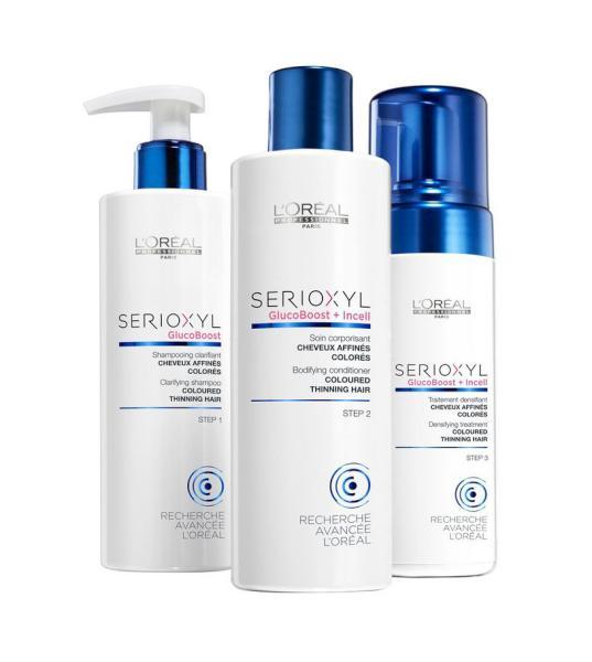 Balíček Serioxyl Fuller hair 2 proti řídnutí vlasů - pro barvené vlasy - Loréal Professionnel + DÁREK ZDARMA