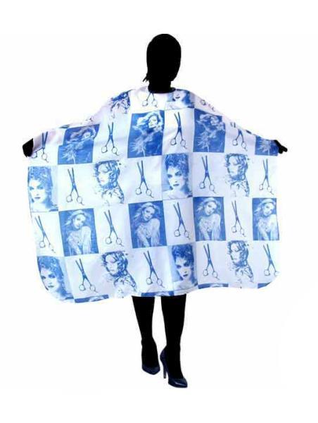 Kadeřnická pláštěnka na stříhání Duko - modrá (580-blue)