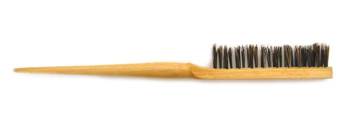 Dřevěný tupírovací kartáč na drdoly Mila - normal (0067802) + DÁREK ZDARMA