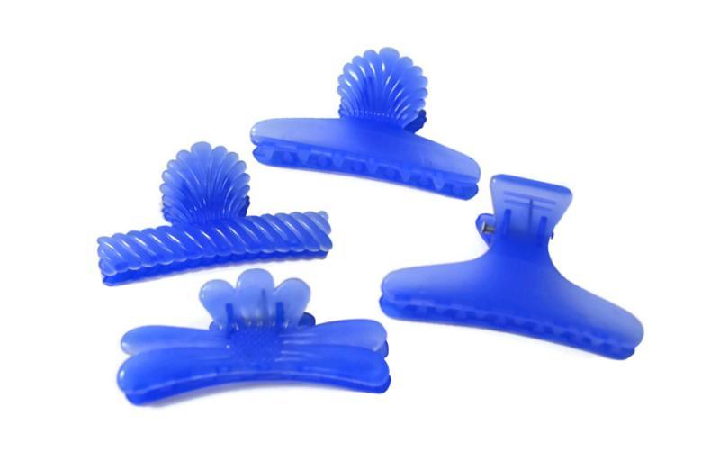 Plastový skřipec do vlasů Duko 1251 velký - modrý (1251 - blue)