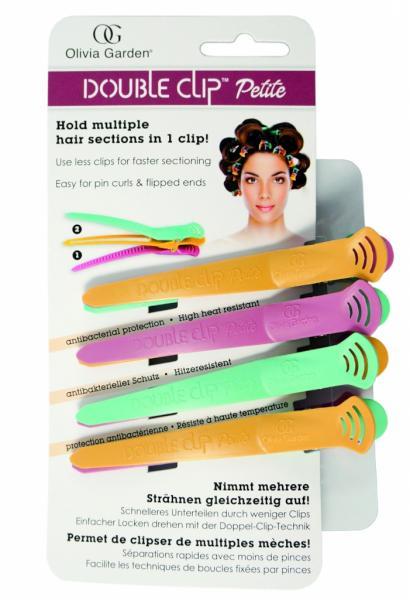Dvojité klipsy do vlasů Olivia Garden, barevné - 4 ks (DC4PC)