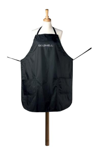 Kadeřnická zástěra Goldwell s kapsami - černá (244701, 348928)