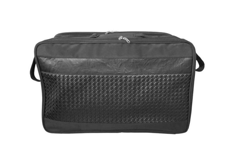 Kadeřnický - kosmetický látkový kufřík Duko - černý (9B07) + DÁREK ZDARMA