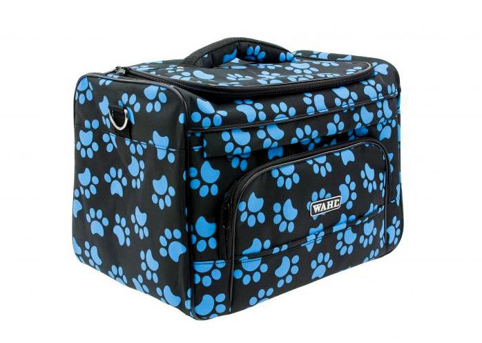 Wahl textilní taška na strojky a příslušenství - modré tlapky (0093-6300) + DÁREK ZDARMA