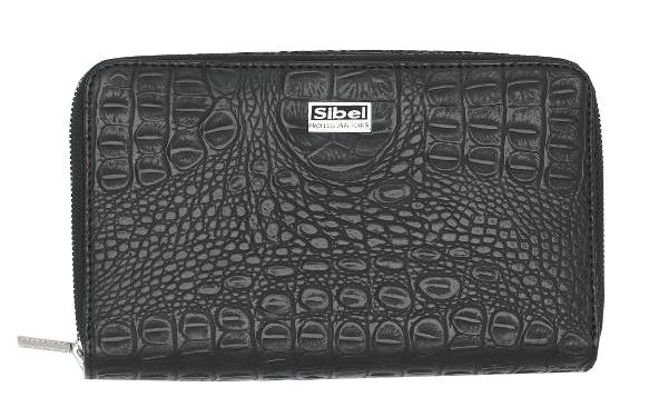 Pouzdro na kadeřnické nůžky a stylingové nástroje Sibel- černé (0151006) + DÁREK ZDARMA