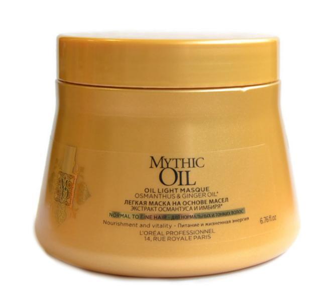 Maska vyživující normální a silnější vlasy Loréal Mythic Oil 200 ml + DÁREK ZDARMA