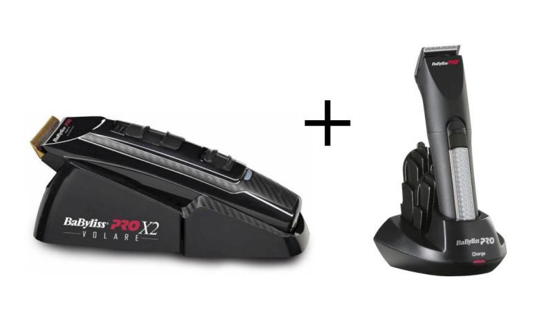 Strojek BaByliss Pro Ferrari černý + Konturovací zastřihovač vlasů (FX811E + FX768) + DÁREK ZDARMA