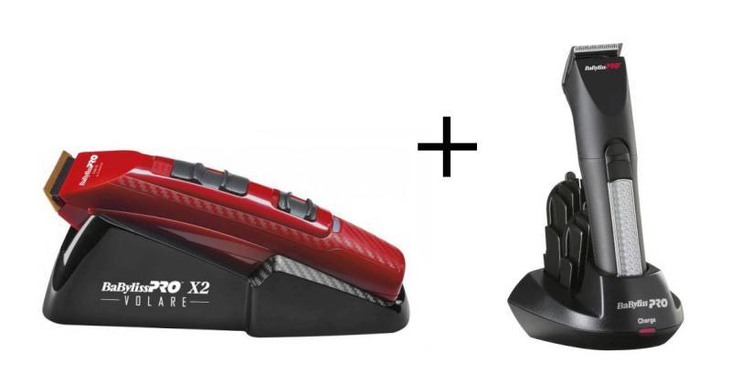 Strojek BaByliss Pro Ferrari červený + Konturovací zastřihovač vlasů (FX811RE + FX768E) + DÁREK ZDARMA