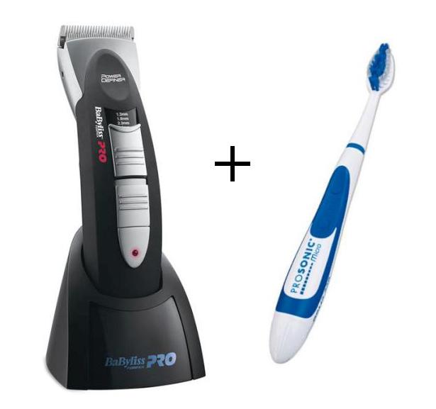 Strojek BaByliss Pro Power Definer + ZDARMA zubní kartáček (FX672E + 630182) + DÁREK ZDARMA