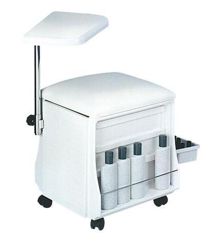 Manikúrní stolek / židle s podnosem Sibel - bílá (0000801-01) + DÁREK ZDARMA