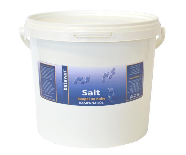 Batavan sůl na nohy kamenná - kabinetní balení 5 kg + DÁREK ZDARMA