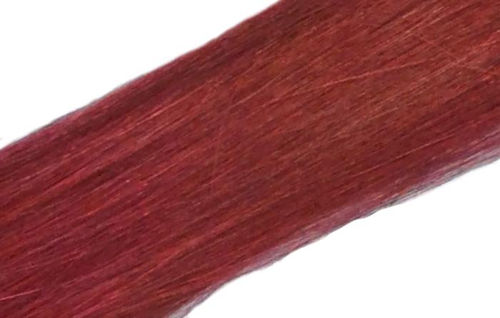 Vlasové pramínky Simply perfect - barva Burg 4 ks, 50 cm (Hightlight 18 BURG) - Human hair + DÁREK ZDARMA