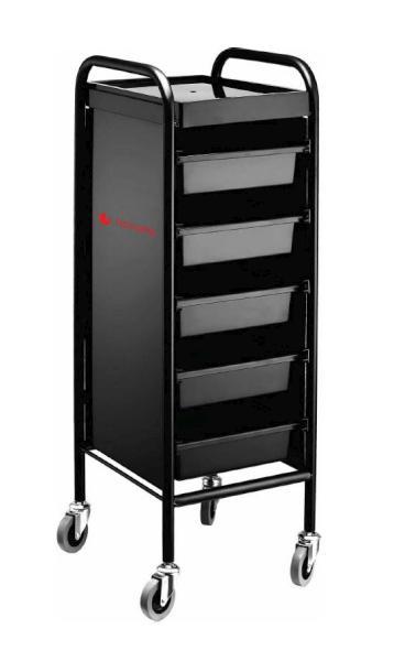 Kadeřnický pracovní vozík Hairway Starter - černý (50195) + DÁREK ZDARMA
