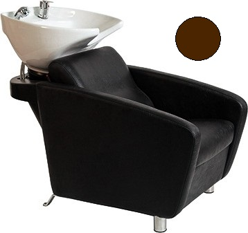 Kadeřnický mycí box Hairway Domino - hnědý (57009-YD81) + DÁREK ZDARMA