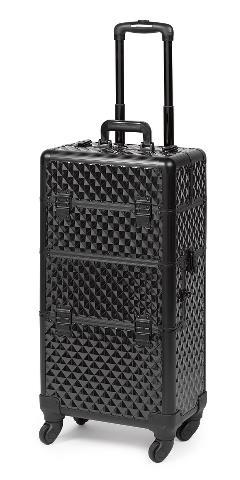 Kadeřnický a kosmetický kufr Sibel na kolečkách - černý (0150070) + DÁREK ZDARMA