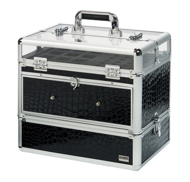 Kosmetický kufřík na potřeby na nehty - 2 dílný se zásuvkou (0150072) - Sibel + DÁREK ZDARMA