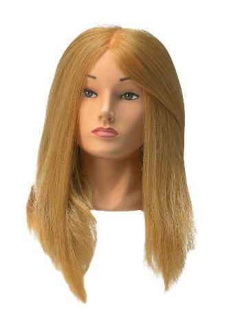 Cvičná hlava Sibel Jessica s umělými vlasy - blond 50 cm (0030091) + DÁREK ZDARMA