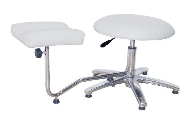 Profesionální pedikúrní stolička + podnožka Sibel - bílá (7300728) + DÁREK ZDARMA