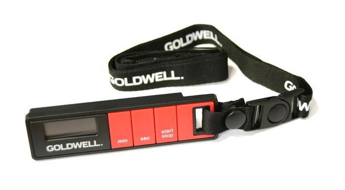 Digitální časovač / minutka Goldwell na krk - černo-červená (298998)