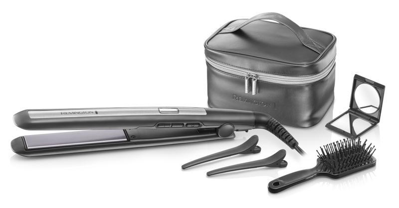 Dárkový set žehlička Pro Ceramic Titanium + kartáč, klipsy, zrcátko (S5506GP) - Remington + DÁREK ZDARMA