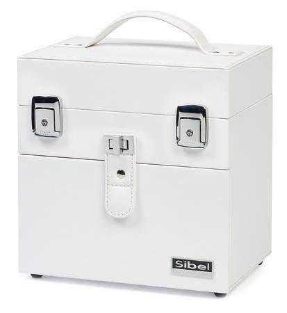 Kosmetický kufřík na potřeby na nehty a další věci Sibel - bílý (0150096) + DÁREK ZDARMA