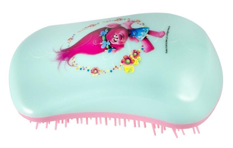 Kartáč na vlasy Dessata Trolls Poppy Flower - mentolovo-růžový (31170) + DÁREK ZDARMA