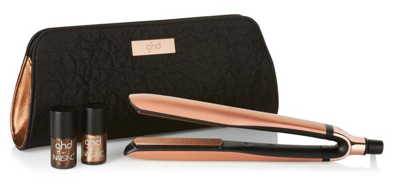 Žehlička na vlasy GHD Platinum Copper Luxe + 2 laky na nehty (P0-Q21617PREMPEU) + DÁREK ZDARMA